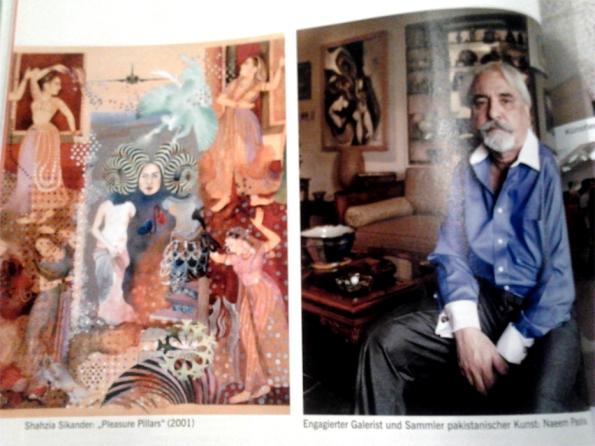 Shazia Sikander, Naeem Pasha in ART magazine - inset 1